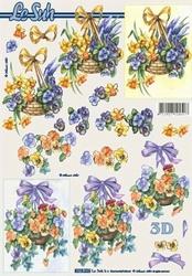 A4 Knipvel Le Suh 8215226 Mandje met voorjaarsbloemen