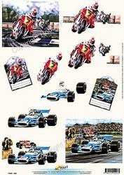 3D Knipvel Universal Pictures 203 Races
