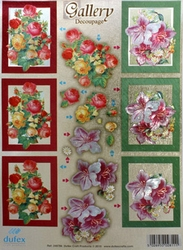 Dufex A4 Stansvel Metallic Gallery 786 Bloemen/rozen