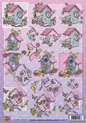 3D Knipvel Yvonne Creations CD10131 Vogelhuisje