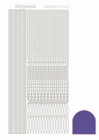 Stickervel Hobbydots Mirror STDM039 purper/paars