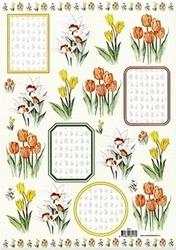 3D Knipvel voorbeeldkaarten 8917 Bloemen