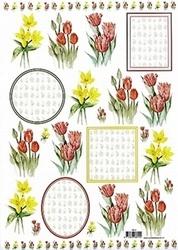 3D Knipvel voorbeeldkaarten 8919 Bloemen
