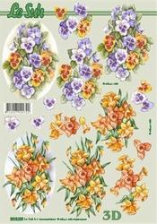 A4 Knipvel Le Suh 8215229 Voorjaarsbloemen viooltje/narcis