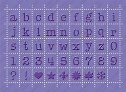 Cuttlebug Cut & Emboss stencil plus 2000248 postage alphabet