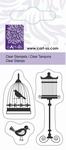 Clearstempel GB-76-2010 kleine vogels met kooi
