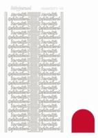 Sticker Hobbydots Adhesive Hartelijk Gefeliciteerd 04 rood