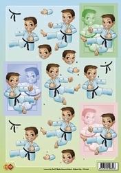 A4 Knipvel Carddeco Matori CD10085 Karate