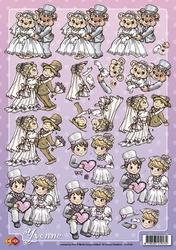 3D Knipvel Yvonne Creations CD10140 Huwelijk
