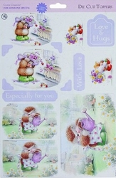 Docrafts CCP 157102 Country Companions A4 die cut toppers