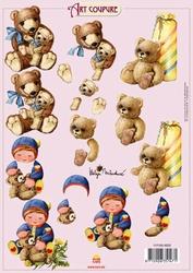 Art Coupure 3D stappenvel 05 knuffelbeer