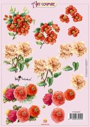 Art Coupure 3D stappenvel 10  rozen