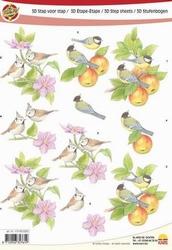 A4 Knipvel Make Me 1005 vogels op tak