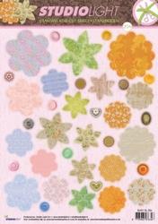 A4 Stansvel Studio Light EASYSL204 Bloemen flower shapes