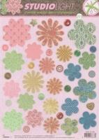 A4 Stansvel Studio Light EASYSL203 Bloemen flower shapes