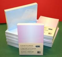 A5 blok Karton 100 vellen 10 kleuren schaduw kaarten