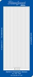 Stickervel Starform Holografisch 1149 brede lijntjes