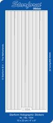 Stickervel Starform Holografisch 1004 verschillende breedte
