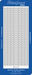 Stickervel Starform Outline 1276 Brede Lijntjes kant 1cm