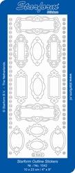 Stickervel Starform Outline 1042 Labels