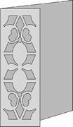 Romak Stanskaart 267 Decoratief Lelie half 21 wit