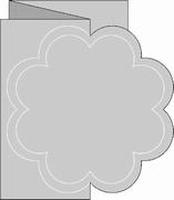 Romak 4-kant kaart 333 Zig Zag Bloem 25 donkerblauw