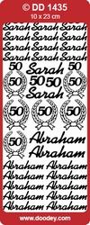 Doodey Stickervel DD1435 Sarah/ 50/ Abraham