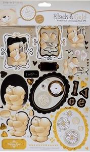 Forever Friends Black & gold 180101 A4 die-cut