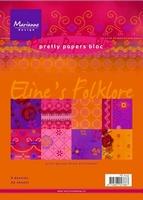 MD Pretty paper Bloc PB7033 Eline's folklore