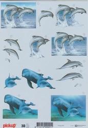 3D Knipvel Pick UP Pu063 Dieren/dolfijnen
