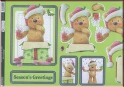 A4 Stansvel Kanban DEC9200 Present From Teddy met glitter