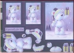A4 Stansvel Kanban DEC9263 Gift For You met glitter