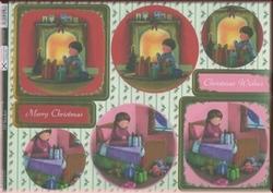 A4 Stansvel Kanban DEC9196 Christmas Morning met glitter