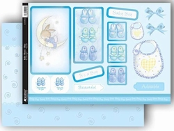 A4 Stansvel Kanban CON9012 Geboorte/Baby Shoes, blue