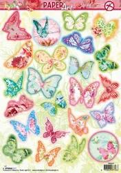 A4 Stansvel Studio Paper Art Spring PASL04 Vlinders