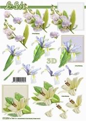 A4 Knipvel Le Suh 777278 Witte Bloemen