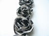 MD Flower ribbons FR1104 ivory,black,gray