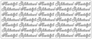 Tekststicker Peel-off 1695 Hartelijk gefeliciteerd
