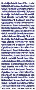 Tekststicker VBK3054 Div teksten Rijbewijs/diploma/jubileum