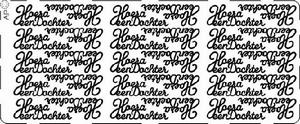 Stickervel Pick-up 052 Hoera een dochter