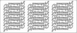 Stickervel Peel-off 1604 Gefeliciteerd
