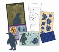 Hobbydots pakketje 101-03 Laser Cards Blauwe Pinquin