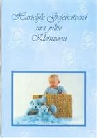 Wenskaart 43 Hartelijk Gefeliciteerd met jullie kleinzoon