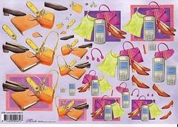 Knipvel A4 Mireille E706 Dames gsm/schoenen/jurk/tas