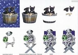 Knipvel A4 Mireille Seasons&Co KA02 Hond in tobbe/op stoel