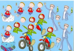 A4 Knipvel Mireille1006 Cartoon/jeugd Boys piraat/astonaut