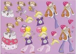 A4 Knipvel Mireille1015 Cartoon/jeugd Girls