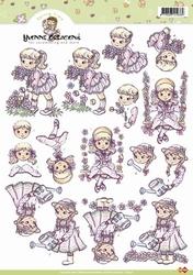 3D Knipvel Yvonne Creations CD10147 Spring time bloemen