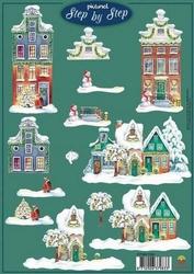 A4 Kerstknipvel Picturel 1104 Besneeuwde gevels