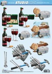 A4 Knipvel Studio Light Heren 1016 wijn/reizen/gereedschap